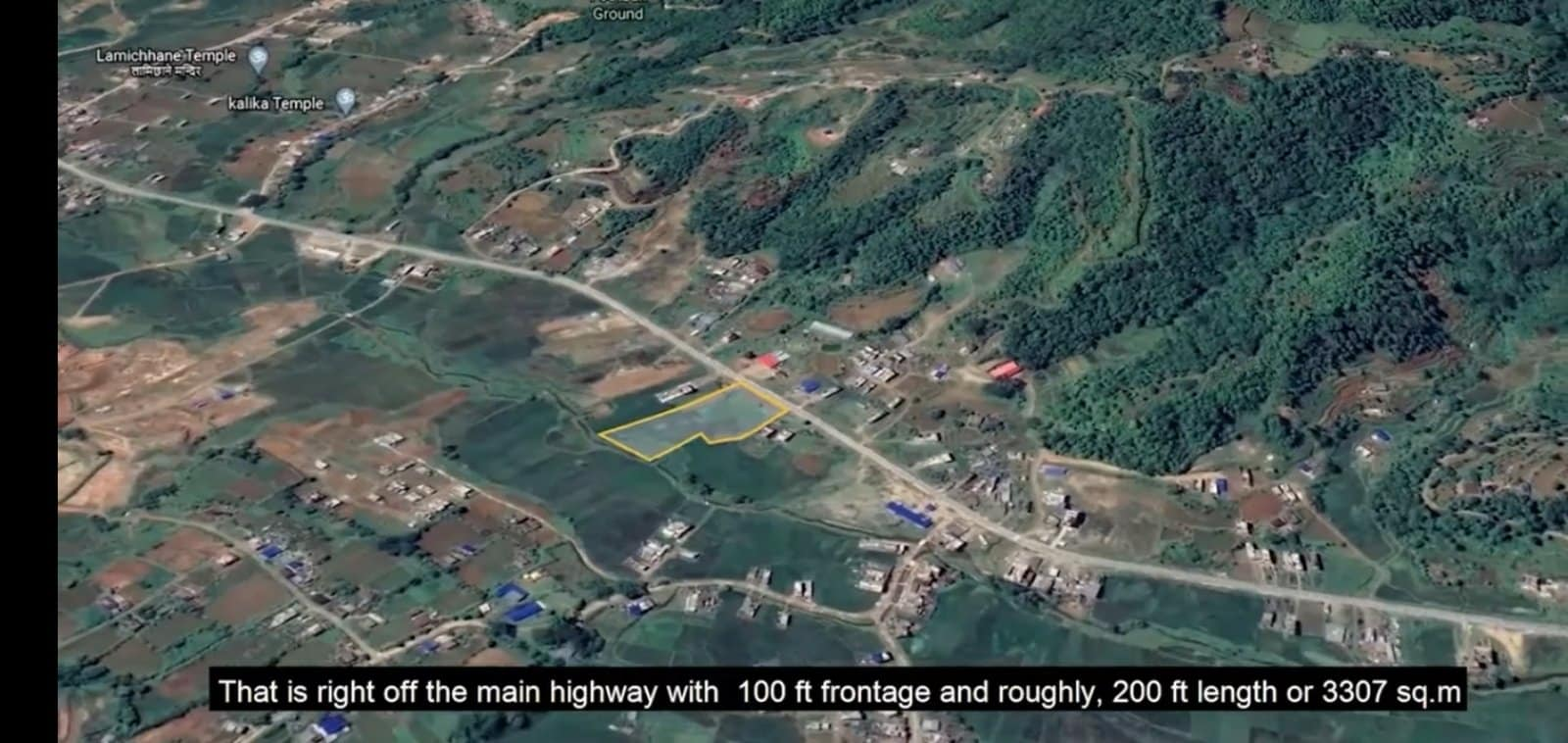 6.5 ropani of land for sale at Jamune Bhangyang, Tanahu