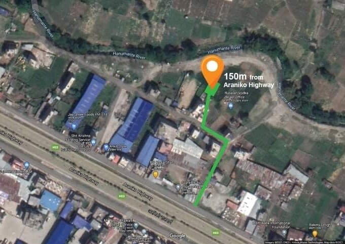 land for sale closed to Araniko Highway